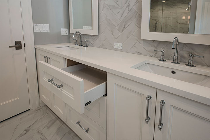 Bathroom Modern Custom Cabinets
