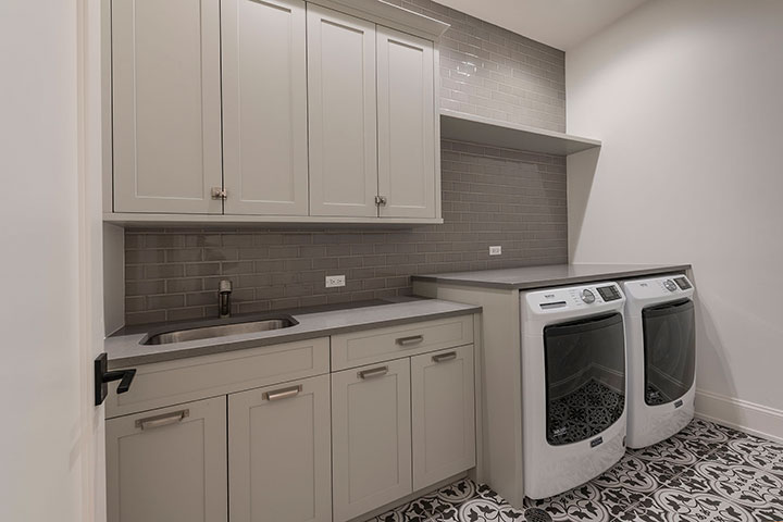 Mudroom-and-Laundry Modern Custom Cabinets